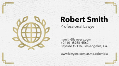 Lawyer Business Card Maker a87