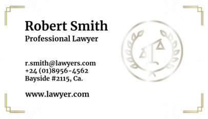 Business Card Maker for a Lawyer a87