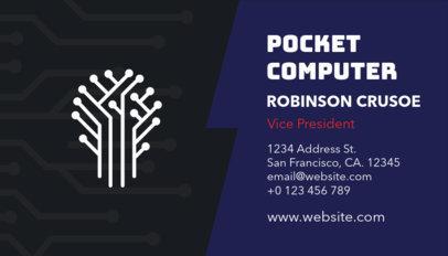 Web Developer Business Card Maker a75
