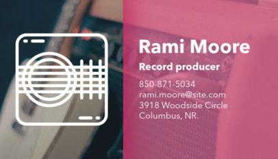 Music Business Card Maker a101