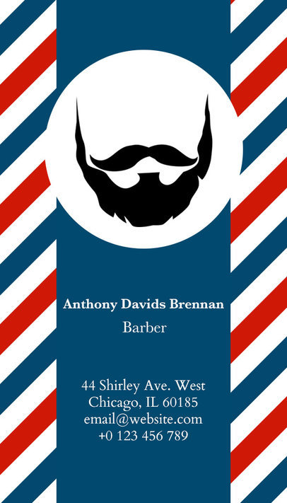 Vertical Barber Business Card Maker a110