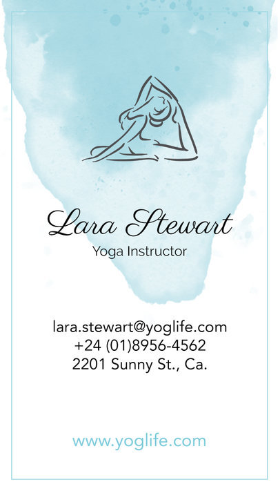Vertical Yoga Business Card Maker a105