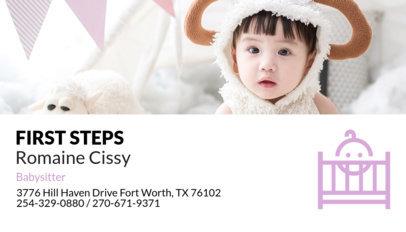 Babysitting Business Card Maker a136