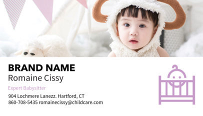 Babysitting Business Card Maker a136