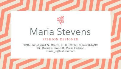 Fashion Designer Business Card Maker a138