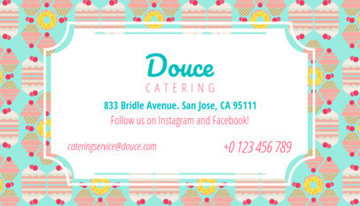 Catering Business Card Maker a143