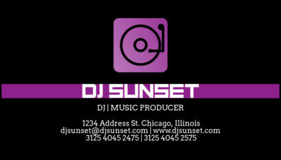 Online Business Card Maker For A DJ