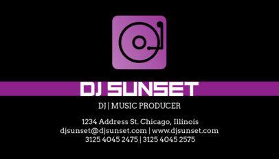 DJ Business Card Template a130