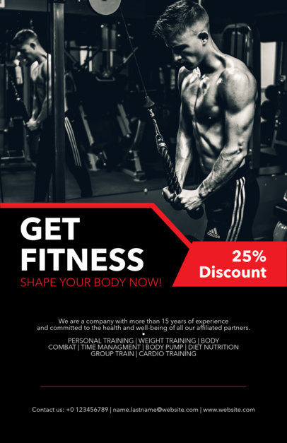 Online Flyer Maker for Fitness Flyers a131
