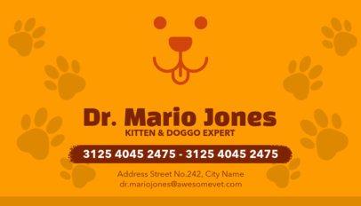 Veterinarian Business Cards Maker a144