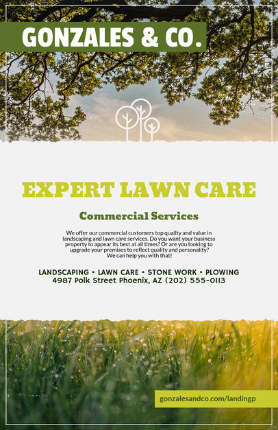 Placeit Flyer Templates For Lawn Services - Landscaping flyer templates