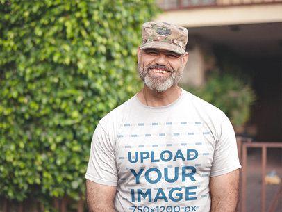 T-Shirt Mockup to Display Veteran Shirt Designs a20629