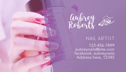Business Card Maker for Nail Artists a126