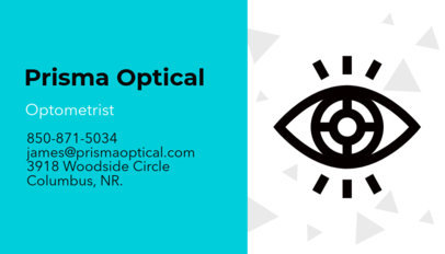 optometrist business card maker