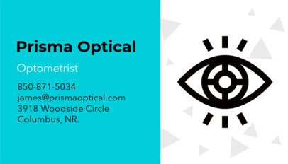 Optometrist Business Card Maker a145