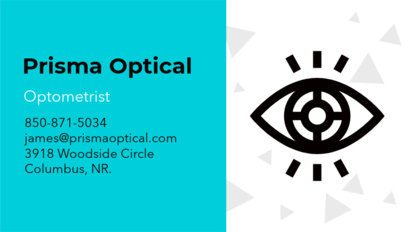 Optometrist Business Card Maker a145