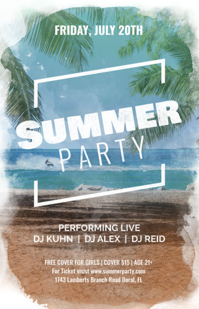 Online Flyer Maker for a Summer Party a133