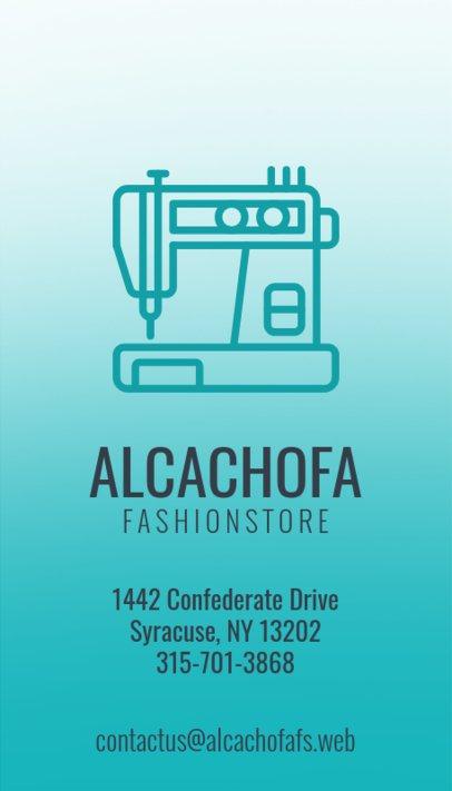 Vertical Fashion Designer Business Card Maker a141