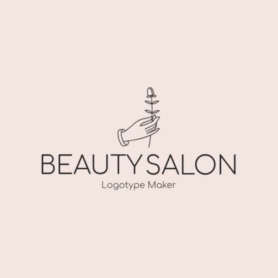 Beauty Salon Logo Maker - Flower Graphics a1137