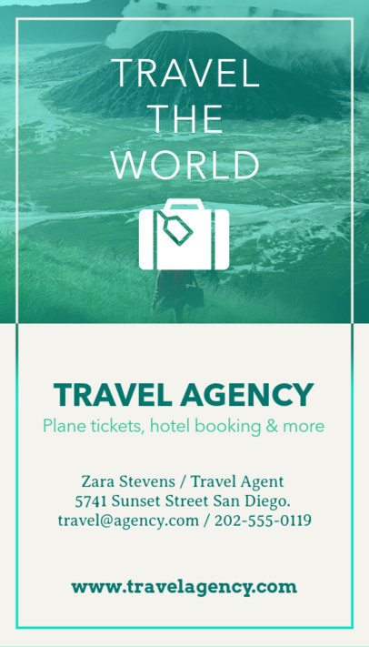 Business Card Maker for Travel Agents a166
