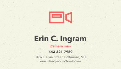 Filmmaker Business Card Template a207