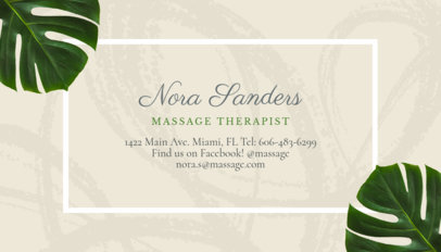 business card maker for relaxing spas with tropical flowers images