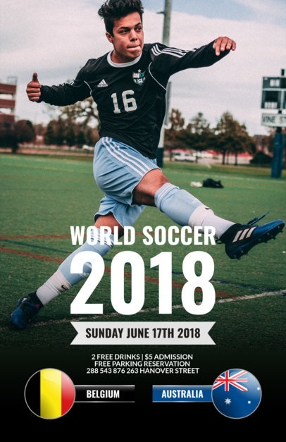 Flyer Maker for World Cup Events a165