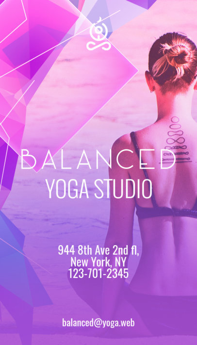 Vertical Yoga Business Card Template a154