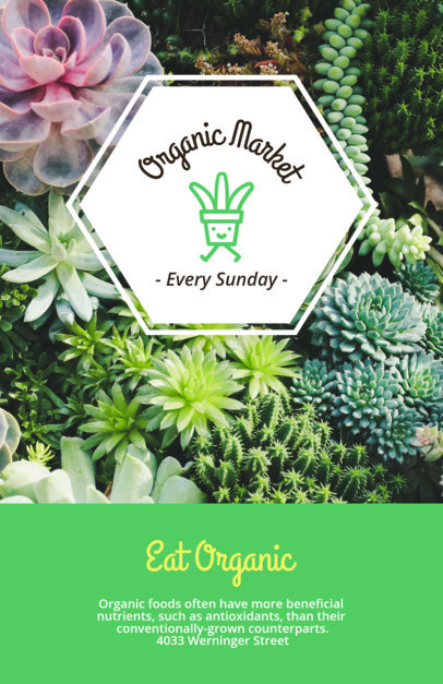 Online Flyer Maker for Organic Market Flyers a194