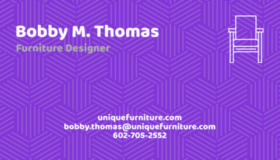 Furniture Store Business Card Maker a178