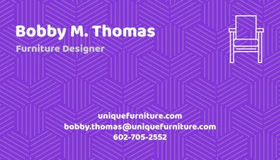 Furniture Store Business Card Maker a178