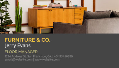 Placeit Business Card Maker With Furniture Images