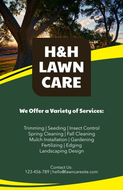 Online Flyer Maker to Design a Landscaping Flyer a159