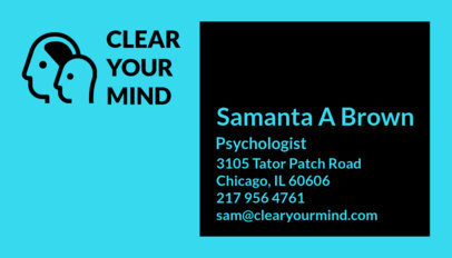 Psychologist Business Card Maker a193