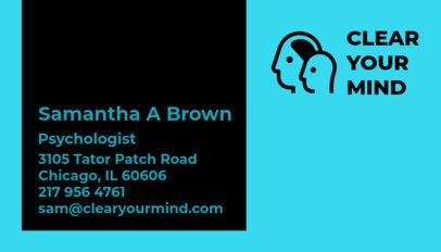 Psychologist Business Card Maker a193
