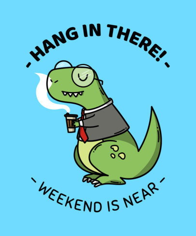 placeit t shirt templates with funny office quotes of dinosaurs