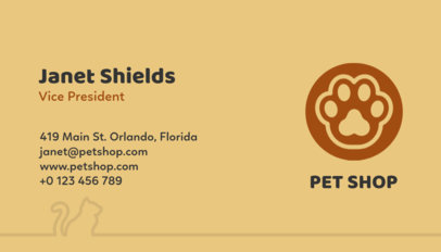 Pet Shop Business Card Maker a187