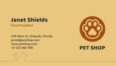Minimal Pet Shop Business Card Template 187