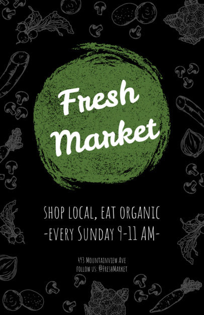 Flyer Design Template to Create Organic Market Flyers a183