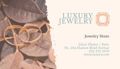 Jewelry Store Business Card Maker a219