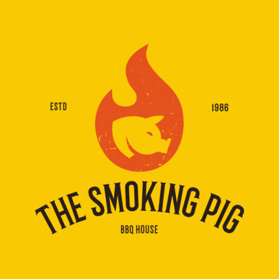 BBQ Restaurant Logo Maker a1171