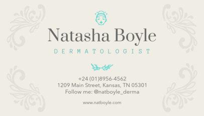 Dermatologist Business Card Template a203