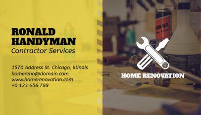 Construction Field Business Card Maker a230