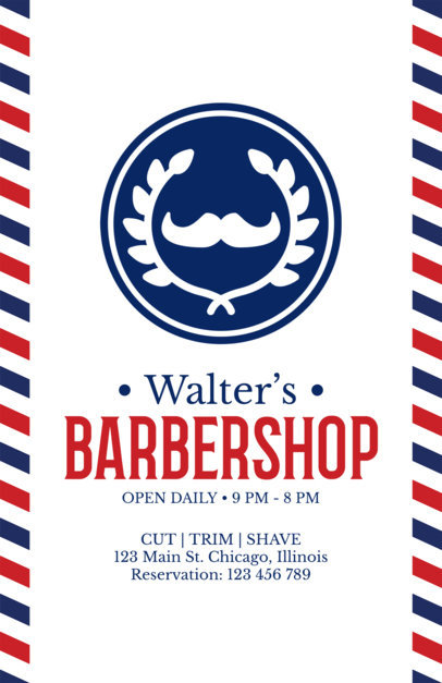 Flyer Maker for Vintage Barber Shops a214