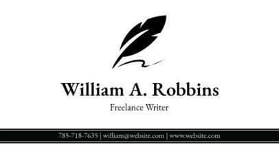 Writer Business Card Template a213