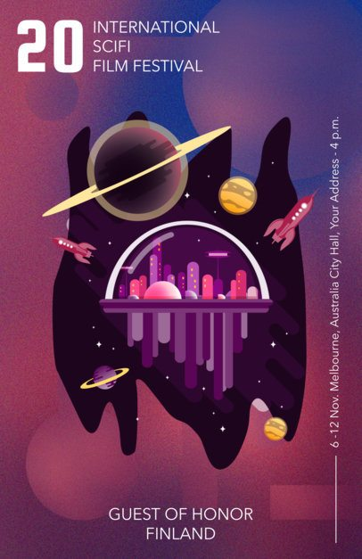 Flyer Maker to Design a Sci-Fi Film Festival Flyer a231
