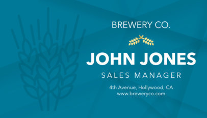 Business Card Maker for Craft Beer Breweries a244