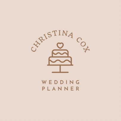 Placeit Event Planner Logo Maker With Wedding Symbols