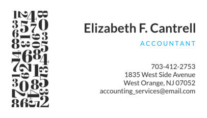 Business Card Maker for an Accountant 252