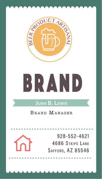 Vertical Brewery Business Card a261